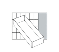 Raaco Insert Storage Solution for Small Parts Robust Polypropylene Transparent Ref 103695 [Pack 12]