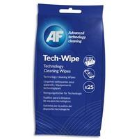 AF Paquet de 25 lingettes pré-imprégnées pour les appareils de technologie mobile AMTW025P