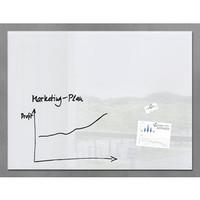 Schreibtafel artverum®, Sicherheitsglas, magn., 120 x 90 cm, weiß