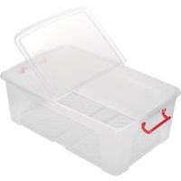 Office Depot Opbergdoos Transparant plastic 45 x 70 x 23 cm