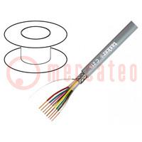 Wire; LiY-CY; 3x0,25mm2; tinned copper braid; PVC; grey; 49VAC