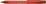 Kugelschreiber Fave, Druckmechanik, M, rot, Schaftfarbe: rot transparent
