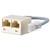 ISDN-Adapter mit Verlängerung WE 8 - 2 x WE 8 R, Verlängerung 0,1 m