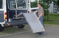 Einbaurampe für Rollstühle - Länge 1800 Breite 800 Tragkraft 350 kg/Stück