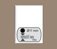DRAADRUG GBC 11MM 34RINGS A4 ZWART