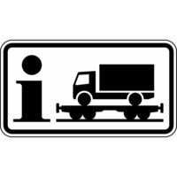Modellbeispiel: VZ Nr. 1010-14, (Information Rollende Landstraße)