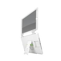 Multi-Case Complete, Blickschutz-Frontklappe, Standfuß, f. iPad Air, quer, weiß