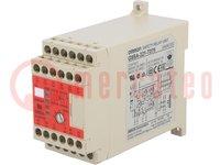 Module: veiligheidsrelais; Serie: G9SA; 24VDC; Ingangen:2; 24VAC