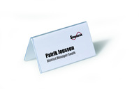 Durable Table Place Name Holder 55x100mm Clear (Pack 25) 8051