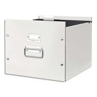 LEITZ Boite Click & Store taille M p/dossiers suspendus à bouton pression L35,6xH28,2xP37cm, blanc
