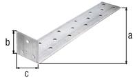 Flachstahl-Betonanker, sendzimirverzinkt, zum Einbetonieren, TxHxB 285x40x40 mm