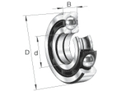 FAG QJ208-XL-MPA Vierpunktlager