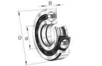 FAG QJ207-XL-MPA Vierpunktlager