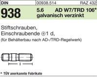 DIN938 5.6 galZn M16x65