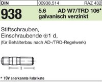 DIN938 5.6 galZn M16x75