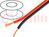 Vezeték: hangszóróvezeték; 2x0,75mm2; sodrat; CCA; fekete-piros
