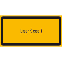 Laserkennzeichnung Laser Klasse 1 Warnschild, selbstkl. Folie ,10,50x5,20cm