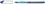 Kugelschreiber Slider Basic, Kappenmodell, XB, blau, Schaftfarbe: transparent
