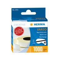 Nachfüllrolle Vario mit 100 Klebestücken, 13 x 12 x 0,5 mm, weiß