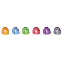 ACCO Boîte 6 Porte-copie PageUp Crystal Color ass : 1orange/1 rouge/1 fuchsia/1 bleu/1 vert /1 gris foncé