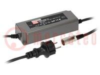 Tápegység: impulzusos; LED; 90W; 20VDC; 4,5A; 90÷264VAC; 127÷370VDC