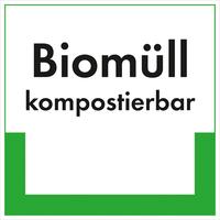 Modellbeispiel: Kennzeichnungsschild, Biomüll kompostierbar, Art. 35.6629