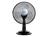 Tischventilator, Lüfter, Ventilator Ø 30 cm 3 Stufen, mit Tragegriff, schwarz, DO8139