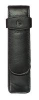 Schreibgeräteetui TG21, 35 x 130 x 20 mm, Rindnappa-Leder, schwarz