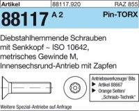 Diebstahlhemmende Schrauben M3x8-T10