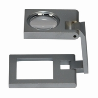 Precision linen testers metal Lens diam. 22.5 mm Field of view 25 x 25 mm Magnification 6x/24dpt
