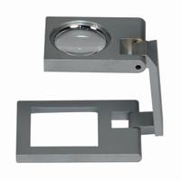 Precision linen testers metal Lens diam. 17.5 mm Field of view 20 x 20 mm Magnification 8x/32dpt