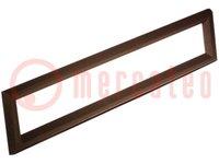 Rahmen; Verwendung: EASER402-NLED; Abm:169x27mm; 153x14,8mm; ABS