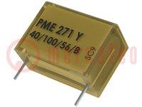 Condensator: papiercondensator; Y2; 100nF; 300VAC; Raster:22,5mm