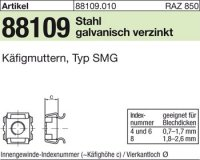 Käfigmuttern M6-6/9,5