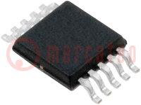 Integrált áramkör: digitális potenciométer; 10kΩ; I2C; MSOP10