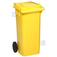 Modellbeispiel: Abfallcontainer -Cubo Carlos-, 120 Liter in gelb (Art. 16081)