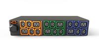 Vertiv Geist GI30107L energiedistributie 2U Zwart, Blauw, Groen, Oranje 18 AC-uitgang(en)