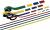 Coloured Magnetic Strips, 2 x 100 cm, 2 pcs./Set