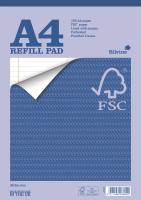 Silvine Refill Pad FSC Paper Feint Headbound Ruled Margin 4-Hole Punched 160pp A4 Ref FSCRP80 [Pack 5]