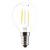 Produktabbildung - LED Filamentlampe klar 2er Packung Tropfenform Retro-LED 2 Watt E14 827 Warmweiss extra