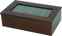 Detailabbildung - Teebox dunkel - 4 Fächer, Aufschrift: Tee