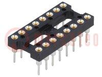 Sockel: DIP; PIN:16; 7,62mm; gold flash; Polyester; ØAusg:0,51mm