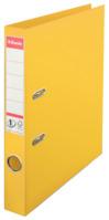 Ordner No.1, Plastik, mit Schlitzen, A4, schmal, gelb