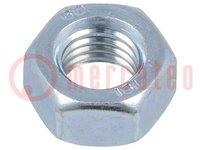 Moer; M12; Bedekking: zink; Bestemming: GN40; Mat: staal; DIN:934