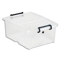 CEP Boîte de rangement SmartBox Strata Transparent, 20L, en PP, couvercle clipsé, L46 x H19 x P37 cm