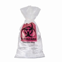 700mm Autoclavable waste bags biohazard PP Length 1100 mm Thickness 0.05 mm Package contents Cardboard box of 500