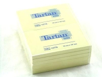 3M Post-it Tartan 127 x 76mm (12 x 100) selbstklebendes Etikett Gelb 12 Stück(e)