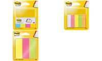 Post-it marque-pages en papier, 15 x 50 mm, couleurs néon (9006706)