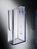 Wand-Prospekthalter acrylic, mit 1 Fach_abgeschraegter_boden