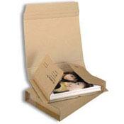 Detailbild - Buchverpackung Standard ohne Haftklebeverschluss braun RBK16 - L:430 mm / B:310 mm